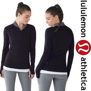 Lululemon Think Fast Pullover  Black / Parallel St